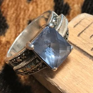 Jewelry - CW Faceted Light Blue Topaz & Silver Ring 🌟